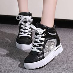 Sidewalk - Platform Hidden Wedge Sneakers