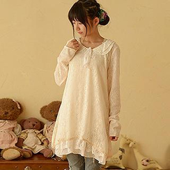 Moriville - Peter Pan Collar Lace Dress