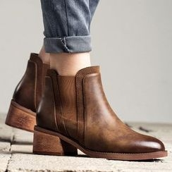 MIAOLV - Block Heel Chelsea Ankle Boots