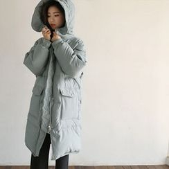 Hello sweety - Hooded Duck-Down Puffer Coat