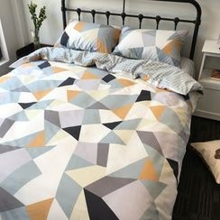 Miss Jane - Bedding Set: Geometric Print Duvet Cover + Bet Sheet + Pillowcases