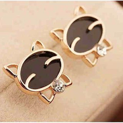 Best Jewellery - Rhinestone Cat Earrings