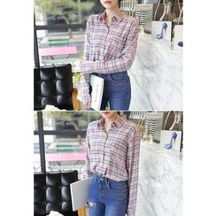 MyFiona - Slim-Fit Check Cotton Shirt