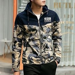 Evzen - Camouflage Hooded Jacket