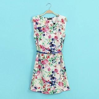 LULUS - Chiffon-Panel Floral Sleeveless Dress