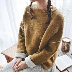 Tulander - 纯色厚毛衣