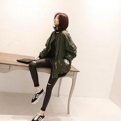 NANING9 - Raglan-Sleeve Zip Jacket