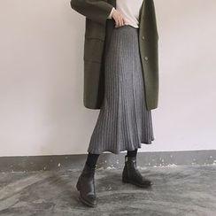 ByPeggie - 針織打褶中長裙