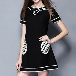 Merald - Short-Sleeve A-Line Dress