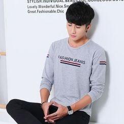 Walwa - Letter Long-Sleeve T-shirt