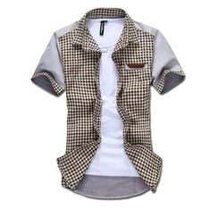 MR.PARK - Short-Sleeve Check Shirt