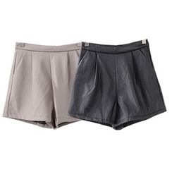 X:Y - Faux Leather Shorts