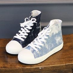 DANI LOVE - Denim Ankle Sneakers