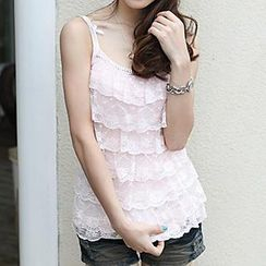Coralie - Lace Tiered Camisole