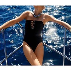 Rivergirl - Strapless Lattice Swimsuit