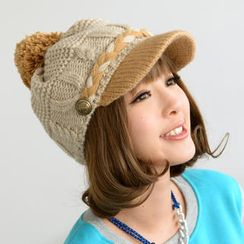 59 Seconds - Button-Accent Knit Casquette