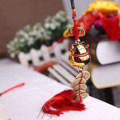 Golden Spindle - Tasseled Hanging Ornament