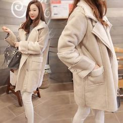EFO - Fleece-Lined Loose-Fit Coat