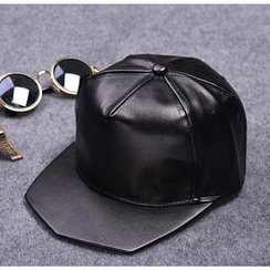 Doonie - Faux Leather Baseball Cap