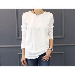 DANI LOVE - Round-Neck Long-Sleeve T-Shirt