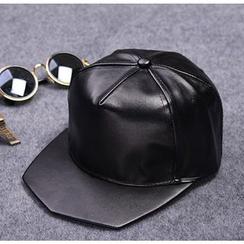 Doonie - Faux Leather Baseball Cap