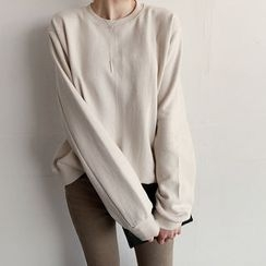 NIPONJJUYA - Crew-Neck Cotton Sweatshirt