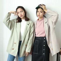 Porta - Lapel Knit Coat