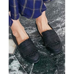 FROMBEGINNING - Fringed Loafers