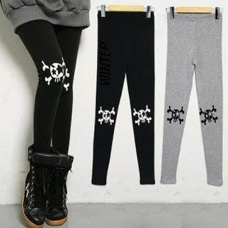 FASHION DIVA - Skull-Print Leggings