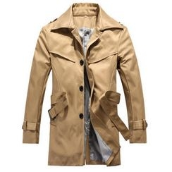 BESTshop - Single-Breasted Trench Coat