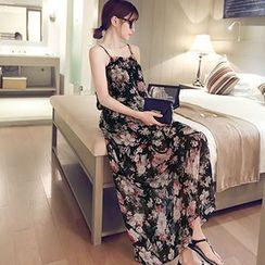 Sienne - Spaghetti Strap Floral Maxi Dress
