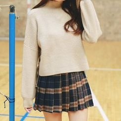 Kuki Cat - Pleated Plaid Skirt