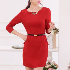 Caroe - 3/4-Sleeve Peplum Dress