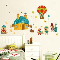 LESIGN - Bear Non-marking Wall Stickers