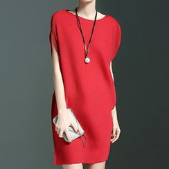 Fashion Street - Cap-Sleeve Short Dress