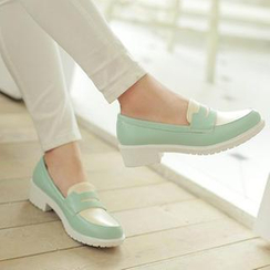 Colorful Shoes - Color-Block Loafers