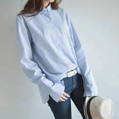 JUSTONE - Long-Sleeve Wide-Cuff Shirt