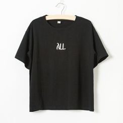 Jill & Jane - Short-Sleeve Lettering T-Shirt