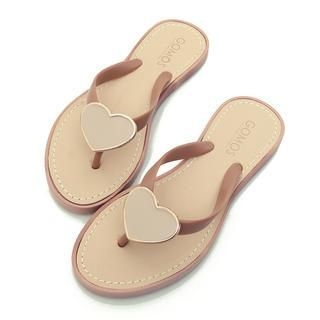 REDOPIN - Faux-Leather Flip-Flops