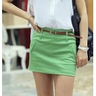 REDOPIN - Set: Zip-Back Miniskirt + Belt