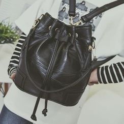 Beloved Bags - Faux Leather Drawstring Backpack