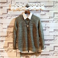 Sundipy - Dip-Back Melange Sweater