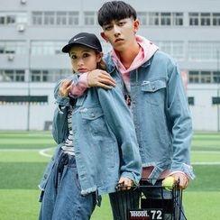 Simpair - Print Couple Matching Denim Jacket