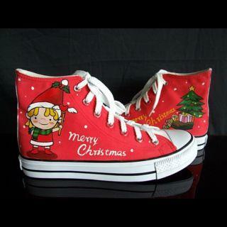 HVBAO - 'Christmas Elf' High-Top Canvas Sneakers