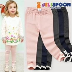 JELISPOON - Girls Lace-Hem Leggings