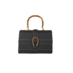 DABAGIRL - Mock Bamboo-Handle Buckled Satchel