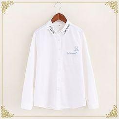 Fairyland - Embroidered Long-Sleeve Shirt