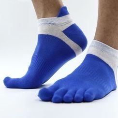 FoxFlair - Color-Block Training Toe Socks