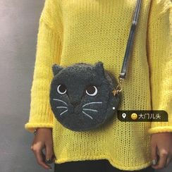 DAMENTO - Cat Embroidered Crossbody Bag