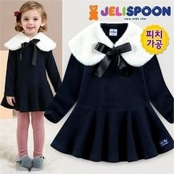 JELISPOON - Girls Flare Dress with Neck Warmer
